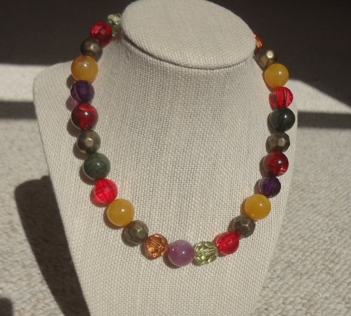 Yellow Green Red Necklace